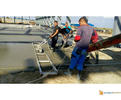 Izrada fero-betona, betoniranje