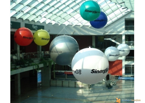 CEPELINI,velike lopte, reklama sa svetlom iznad grada, prodaja sa lagera