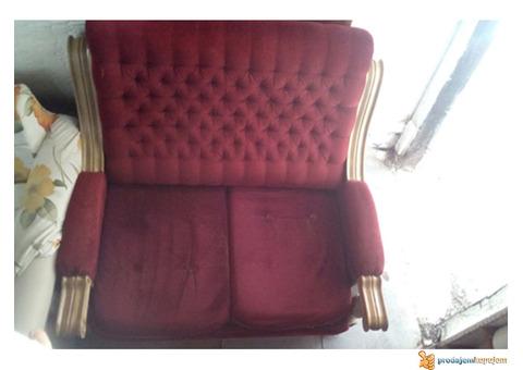 Prodajem dva dvoseda kao dupla fotelja
