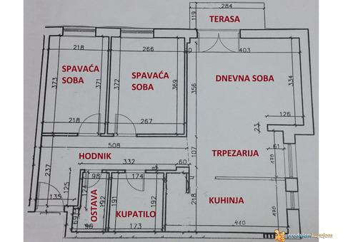 Prodaja: trosoban stan 61m2, Zmaj Ognjena Vuka - Novi Sad