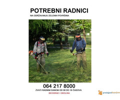 Potrebni radnici na održavanju zelenih površina 0642178000