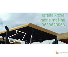 Izrada krova radne mašine od poliestera (stakloplastika)