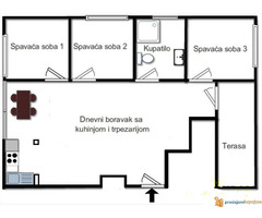 Trosoban stan na Voždovcu - renoviran