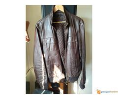 Kožna jakna braon