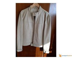 Kožna jakna bela
