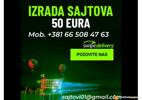 Povoljna izrada sajta, 50 eura