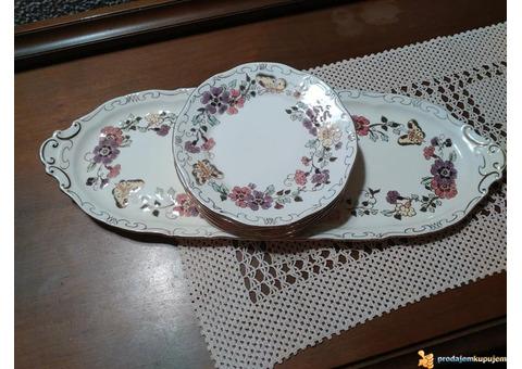 Unikatni servis za kolače/Zsolnay Hungary/porcelan
