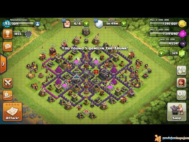 Solidan nalog za Clash of Clans TH 9 - 1/2
