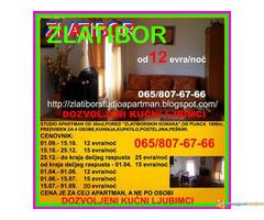 Zlatibor, izdajem apartman od 12 evra/dan