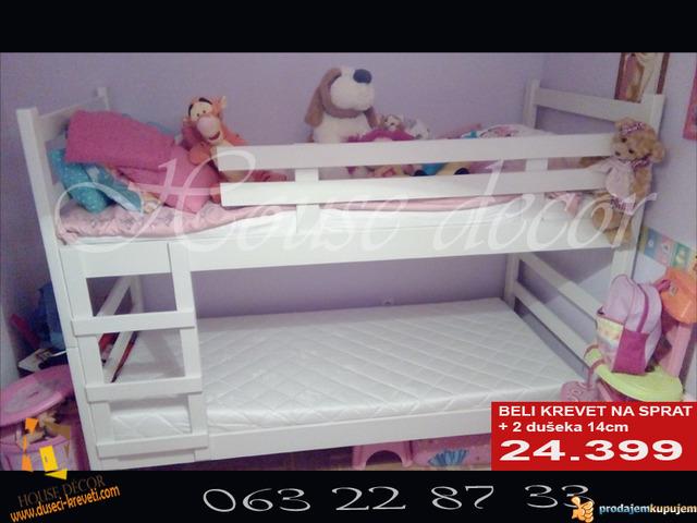 Spratni beli krevet sa dusecima od 24399 - 1/2