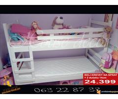 Spratni beli krevet sa dusecima od 24399 - Slika 1/2