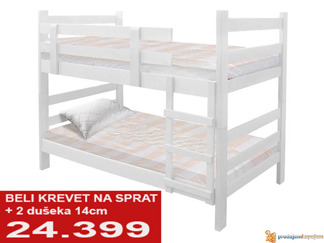 Spratni beli krevet sa dusecima od 24399 - 2/2