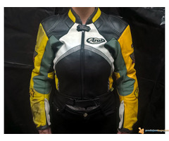 """FLM """"Greyhound"""" kožna moto jakna - Slika 1/5"""