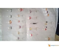 Uljane lampe od duvanog stakla
