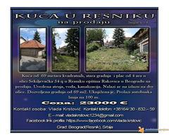 Kuća u Resniku na prodaju