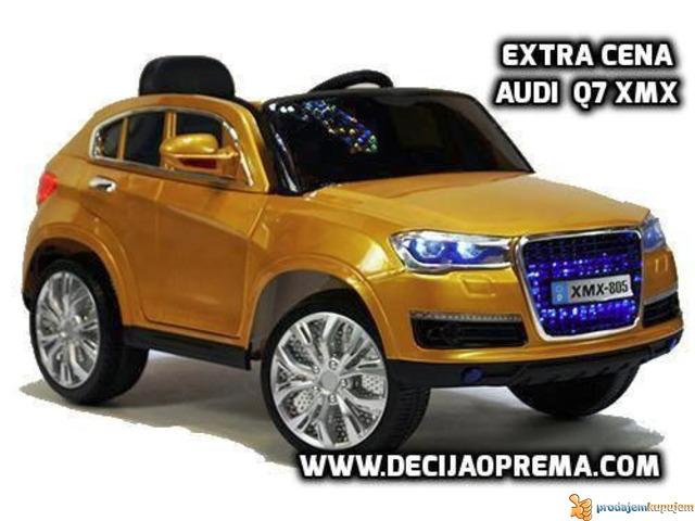 Audi Q7 Auto na akumulator sa daljinskim upravljanjem Zlatni - 1/1