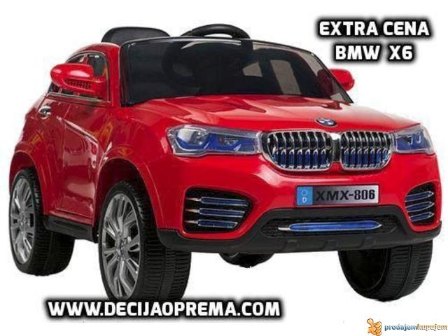 BMW X6 Auto na akumulator sa daljinskim upravljanjem Crveni - 1/1