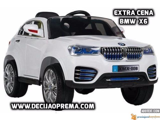 BMW X6 Auto na akumulator sa daljinskim upravljanjem Beli - 1/1