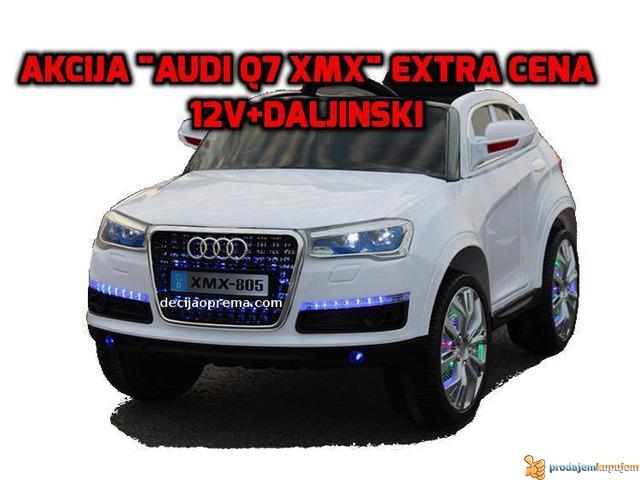 Audi Q7 Auto na akumulator sa daljinskim upravljanjem Beli - 1/1