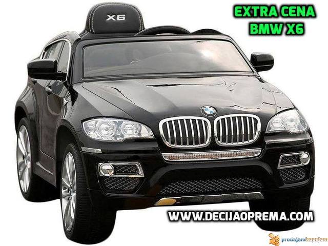 BMW X6 Auto na akumulator sa daljinskim upravljanjem Crni - 1/1