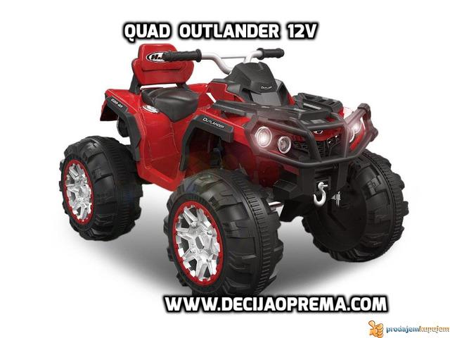 Quad Outlander 12v Crveni - 1/2