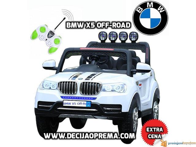 BMW X5 Off-Road auto za decu na akumulator 12V dvosed Beli - 1/1