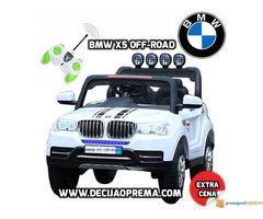 BMW X5 Off-Road auto za decu na akumulator 12V dvosed Beli