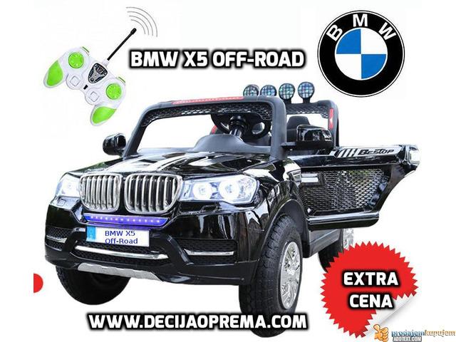 BMW X5 Off-Road auto za decu na akumulator 12V dvosed Crni - 1/2