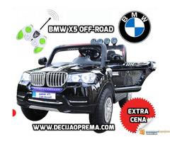 BMW X5 Off-Road auto za decu na akumulator 12V dvosed Crni - Slika 1/2