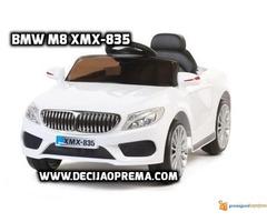 BMW M8 xmx 835 Auto na akumulator sa daljinskim Beli