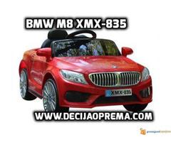 BMW M8 xmx 835 Auto na akumulator sa daljinskim Crveni