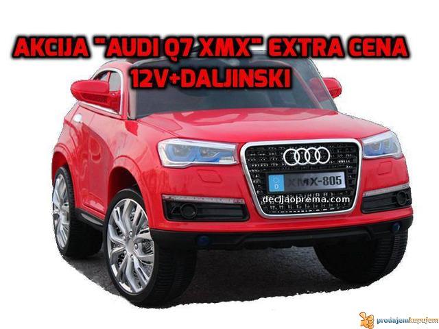 Audi Q7 Auto na akumulator sa daljinskim upravljanjem Crni - 1/1