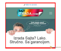 Novo! Izrada web sajta SA GARANCIJOM!