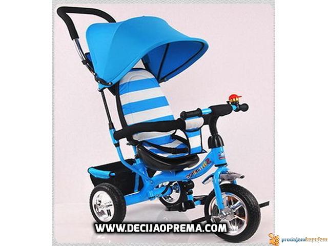 Tricikl za decu Playtime Plavo Beli - 1/1