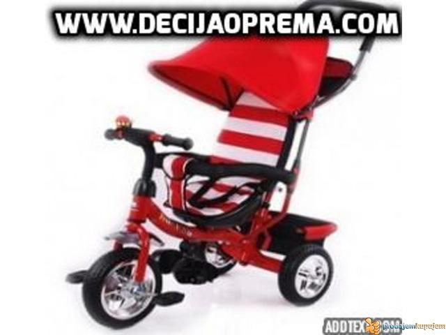 Tricikl za decu Playtime Crveno Beli - 1/1