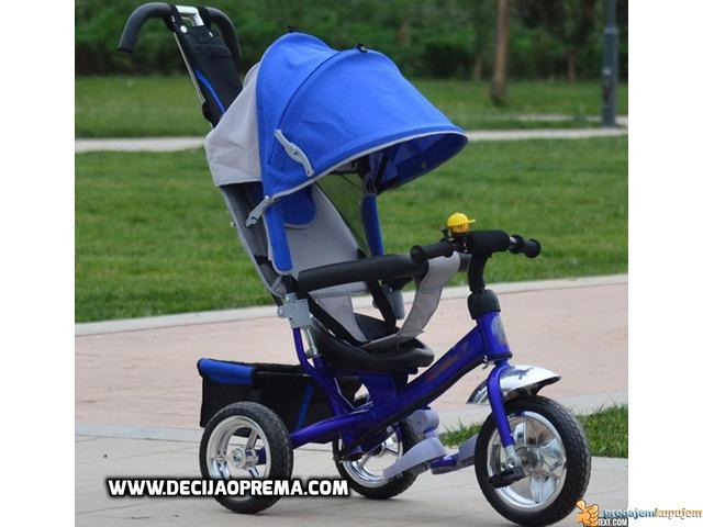 Tricikl za decu Playtime Podesivi Naslon Plavi - 1/1