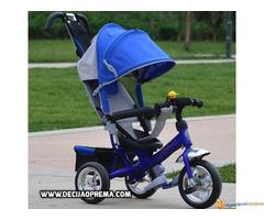 Tricikl za decu Playtime Podesivi Naslon Plavi