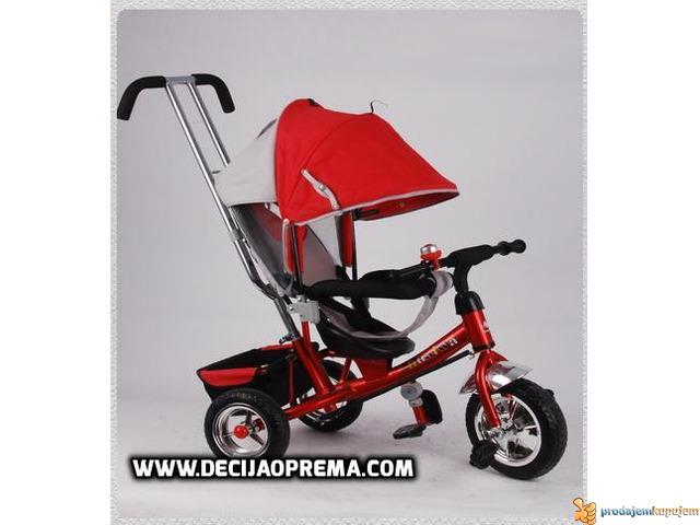 Tricikl za decu Playtime Podesivi Naslon Crveni - 2/2