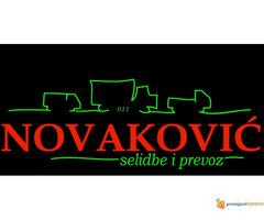 Selidbe i prevoz robe Srbija,ExYu,Eu,Rus,Tur