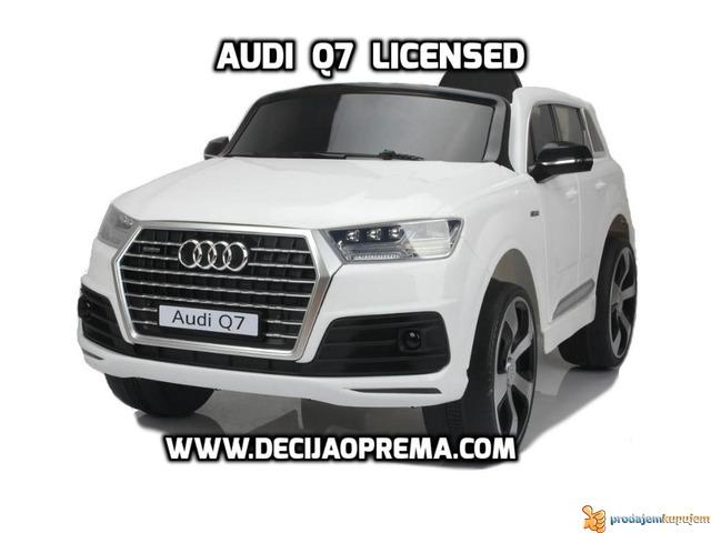 Audi Q7 Licensed na akumulator za decu Beli - 1/3