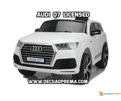 Audi Q7 Licensed na akumulator za decu Beli - Slika 1/3