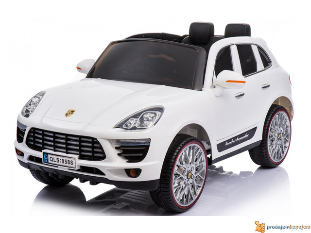 Porsche Cayenne Sport na akumulator za decu Beli - 1/3