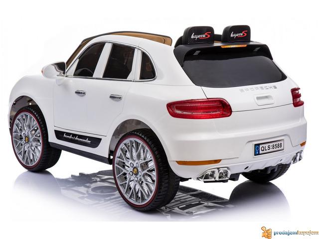 Porsche Cayenne Sport na akumulator za decu Beli - 3/3