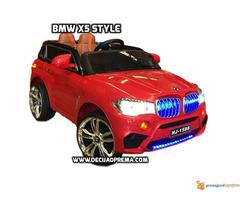 BMW X5 Style na akumulator 12V za decu Crveni - Slika 1/4