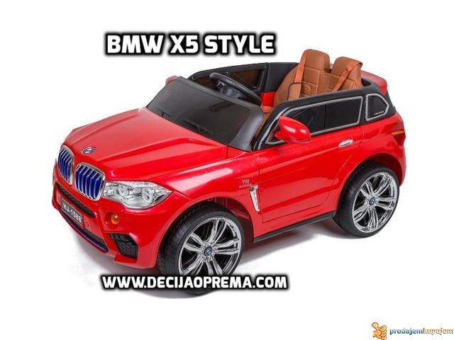 BMW X5 Style na akumulator 12V za decu Crveni - 2/4