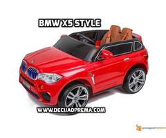 BMW X5 Style na akumulator 12V za decu Crveni - Slika 2/4