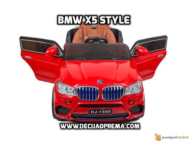 BMW X5 Style na akumulator 12V za decu Crveni - 3/4