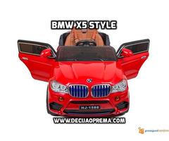 BMW X5 Style na akumulator 12V za decu Crveni - Slika 3/4