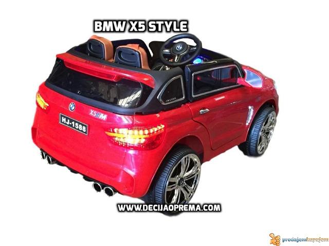 BMW X5 Style na akumulator 12V za decu Crveni - 4/4
