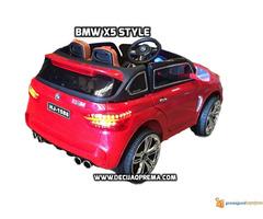 BMW X5 Style na akumulator 12V za decu Crveni - Slika 4/4